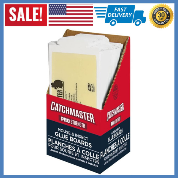 Catchmaster 75M Bulk SMALL Mouse and Insect Glue Boards 75-Pack 7x3.5 inches