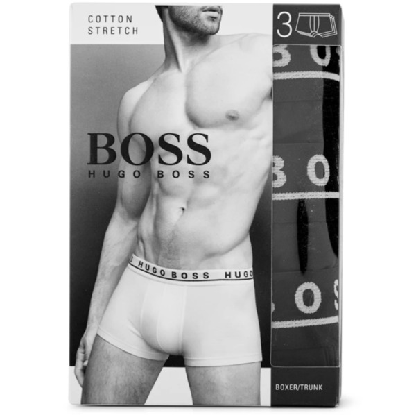 Hugo Boss Boxer black boxers trunk 3 pack stretch cotton $24.99