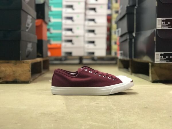 Converse Jack Purcell OX Mens Low Top Shoes Burgandy/White 161634C NEW Size 10.5