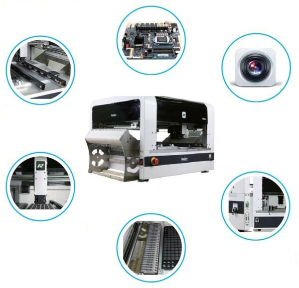 PCB SMT Pick and Place Machine NeoDen4 Vision System 35 Electric Feeders BGA QFN $9888.00