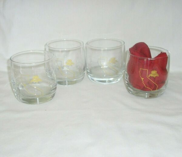 Crown Royal Glasses State of California Set of 4 $25.99