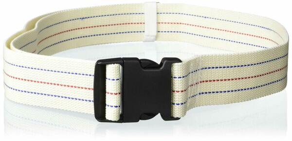 Gait Belt for Patient Transfer & Walking with Plastic Buckle LiftAid Beige
