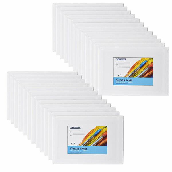 Primed Painting Canvas Panel Boards Valued24 Pack100% Cotton CanvasesAcid Free $20.99