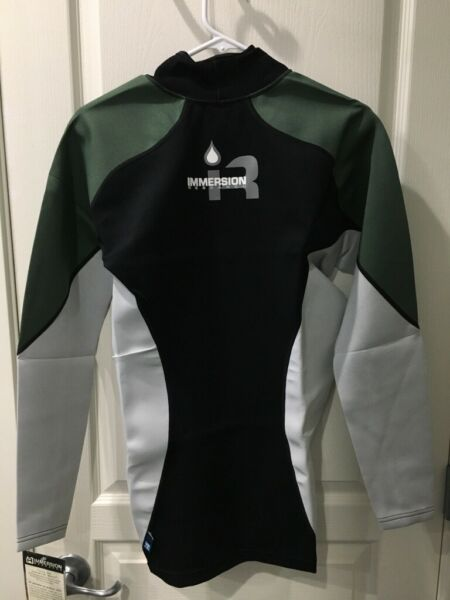 Immersion Research Thermo Skin 0.5mm Neoprene Shirt Mens Large BlackGreenWhite