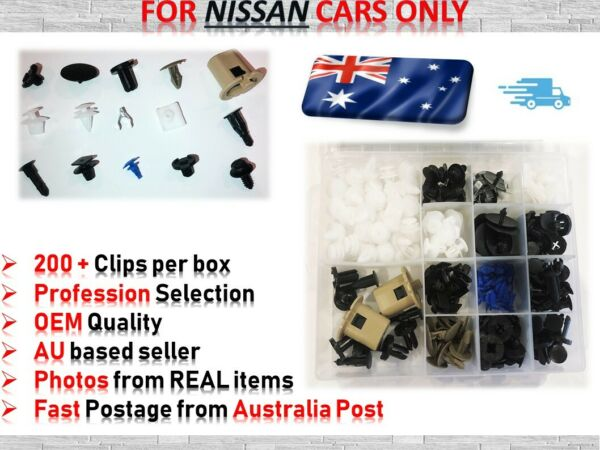 *FOR NISSAN Cars ONLY* Body Push Pin Rivet Fastener Trim Hood Bumper Clips 220pc