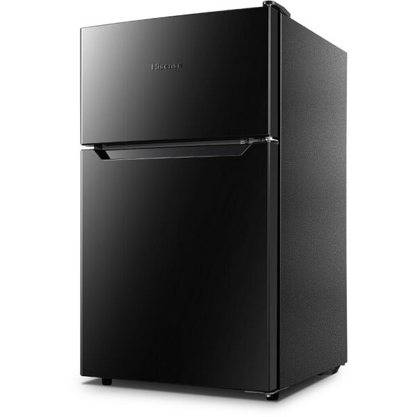 Hisense 3.2 Cu. Ft. Compact Top Mount Refrigerator Fridge - Black