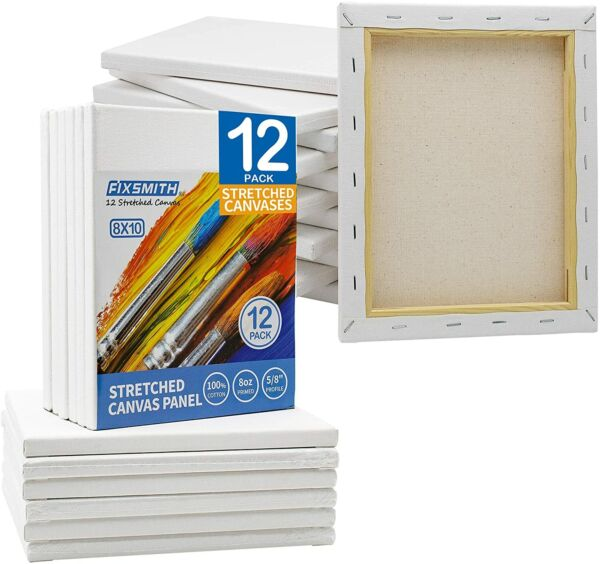 Pre Stretched White Blank Painting Canvas Panels5 8quot; ProfilePrimed100% Cotton