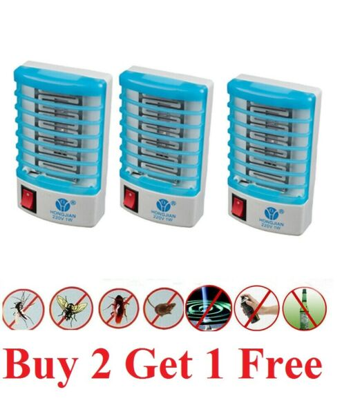 Indoor LED Electric Mosquito Fly Bug Insect Trap Zapper Killer Night Lamp light $5.99