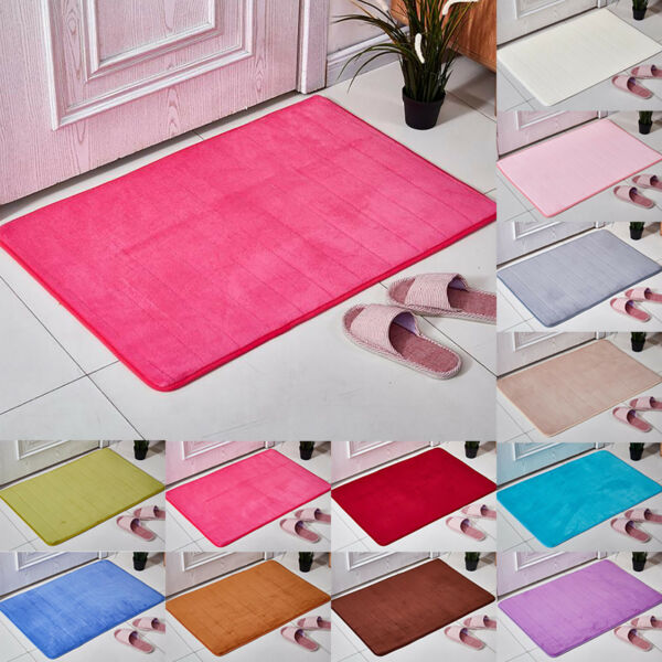 Memory Foam Non Slip Bath Mat Absorbent Soft Bathroom Bedroom Floor Rugs Carpet