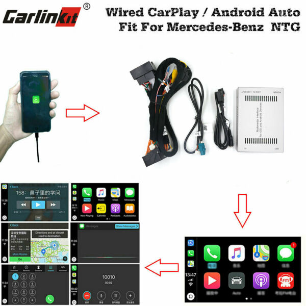 Carlinkit Fit For Mercedes-Benz Wired CarPlay Android Auto Retrofit Upgrade Box