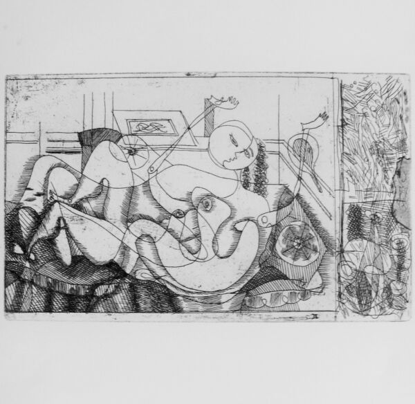 BRAQUE - EARLY SURREAL LITHOGRAPH  #2 - 1949 - SPECIAL $  .99  !!!