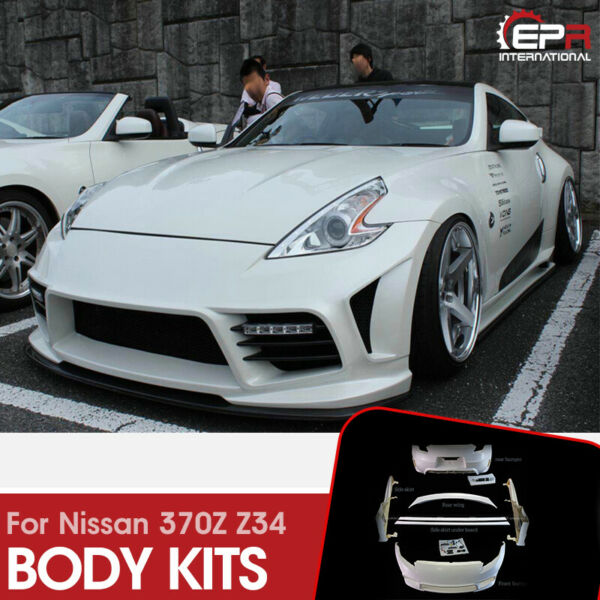 For Nissan 2009+ 370Z Z34 WBS Style FRP Fiber Glass Full Wide body Parts