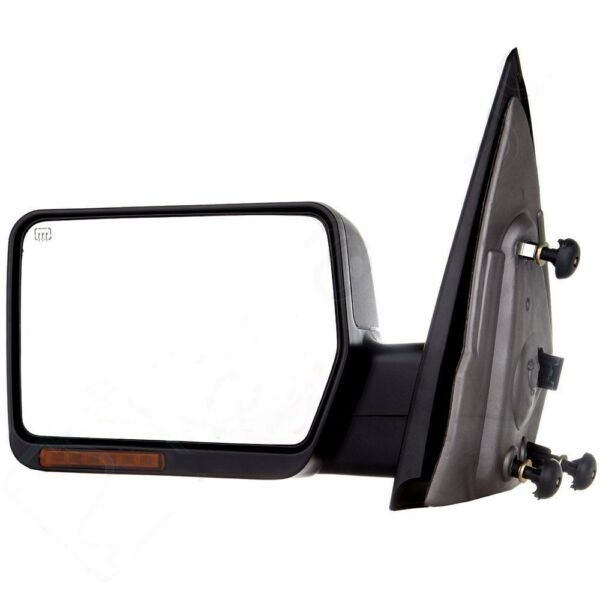 Left Driver Side 04-06 Ford F150 Side Mirror Black Power Heated LED Turn Signal