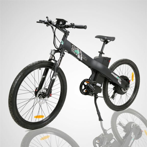 48V1000W Electric Bike Mountain Bicycle E City Black w Throttle