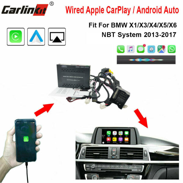 Carlinkit Fit For BMW NBT Wired i Phone CarPlay AirPlay Android Auto Upgrade Kit