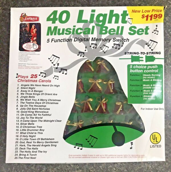 Vintage 40 Musical Bell Lights In Motion 25 Songs 5 Functions Changing Patterns $39.99