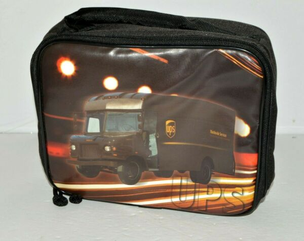 UPS Truck Employee Lunch Pail Soft Insulated Delivery Driver Brown Box
