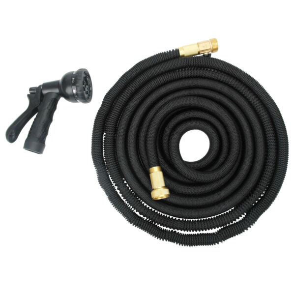 New 50ft Expandable Flexible Garden Water Hose Retractible Pipe