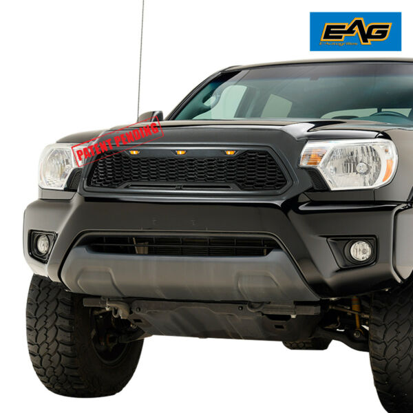 EAG Main Upper Grille LED Grill Replacement W Shell Fit 12-15 Toyota Tacoma