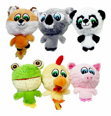Multipet 43225 Dog Toy Plush Knobby Noggins Assorted 4-In.