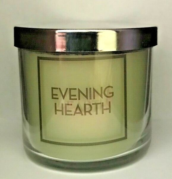 *New* EVENING HEARTH Single wick Candle~Bath & Body Works~Ships Free!
