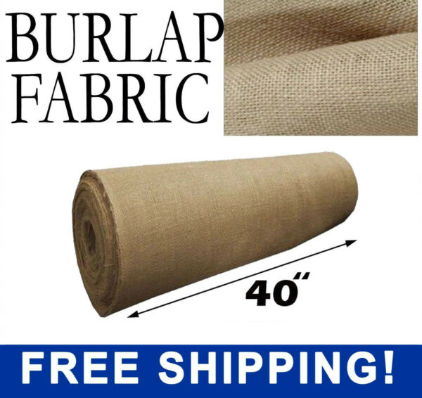 Burlap Natural Fabric - 40