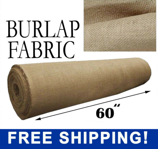 Natural Jute Burlap Fabric 60quot; Wide Different Length Sizes Free Shipping