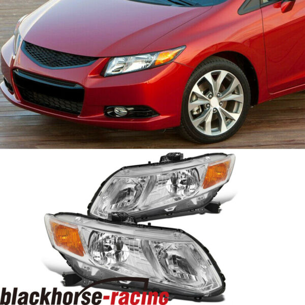For 2012 2015 Honda Civic 4Dr Sedan Headlights Headlamps Replacement LeftRight