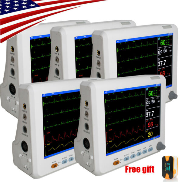 5PCS ICU Patient Monitor 8 inch Vital Signs Monitor 6 Parameters Carejoy USA