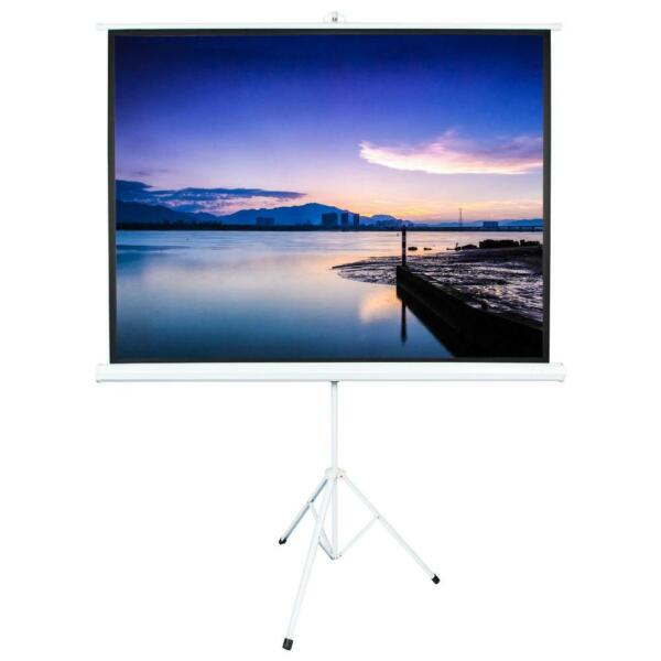100quot; 1.1 Gain Projector Screen 4:3 Projection Screen Portable Stand Tripod $58.69