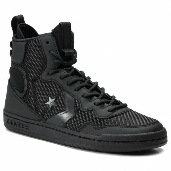 Converse Fastbreak Cascade Leather High-Top Sneakers Black 162558C Sz 10 9.5 12