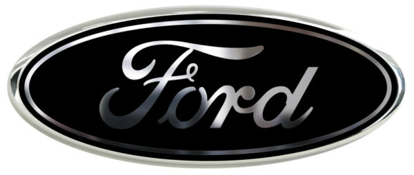 NEW! Fits various Ford Models BlackChrome Logo Overlay Decals 3PC Kit!