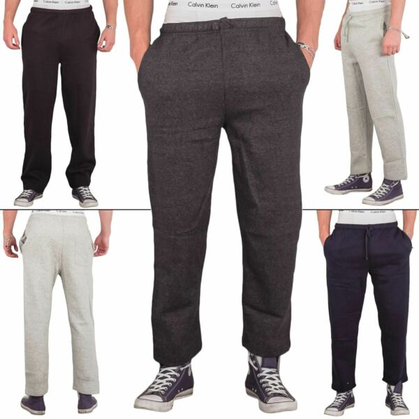 Mens Joggers Fleece Jogging Casual Bottoms Open Hem Sports Track Pants Trousers $18.99