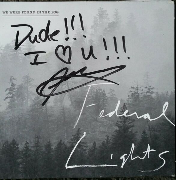 Federal Lights We Were Found In The Fog Signed CD 2013 Aporia OOP Rare