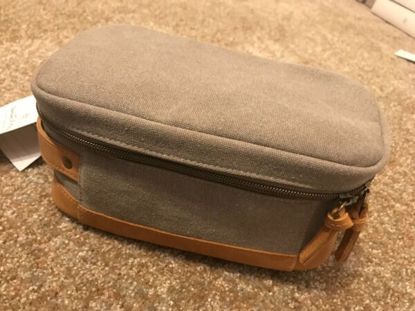 Hearth and Hand Dopp kit Canvas and leather NEW with Tag!!!!