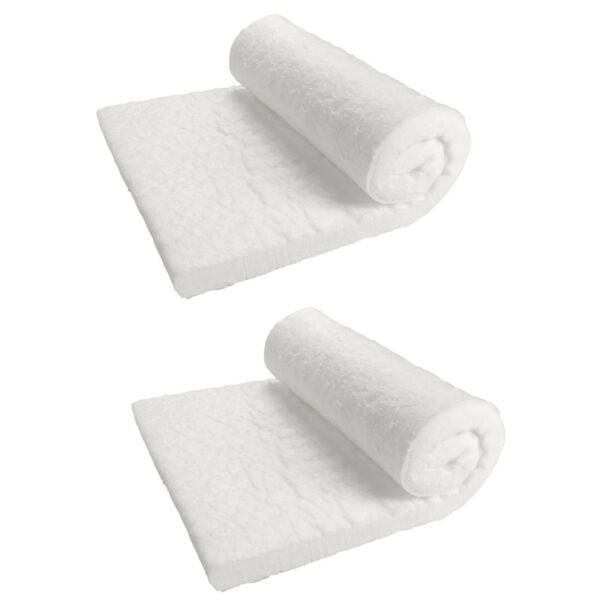 2 Pcs of Ceramic Fiber Blanket 2300F 8# High Temp Thermal Insulation 1