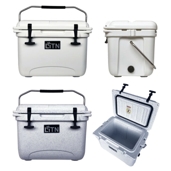 Outdoors 20 qt Club RotoMolded Cooler and Ice Box 26 QT High Performance Cooler