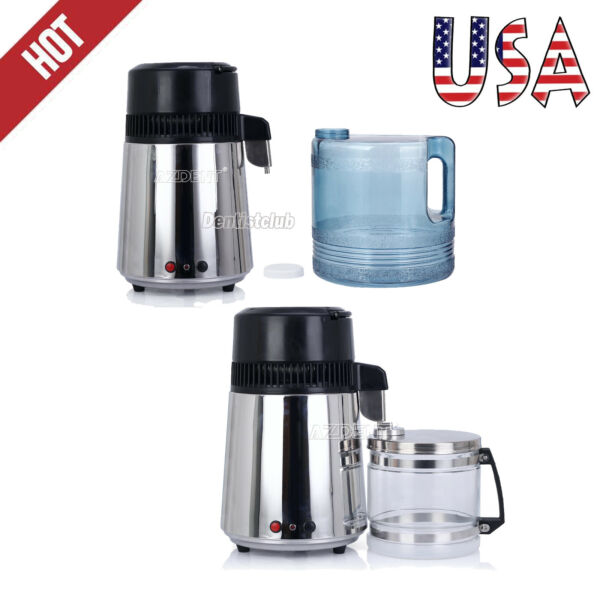 4L Stainless Steel Electric Water Distiller Filter Machine Purifier Home Pure US
