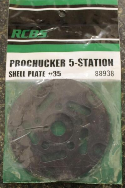RCBS Pro Chucker 5 Station Shell Holder Plate #35 88938 Auto Index Press NEW!
