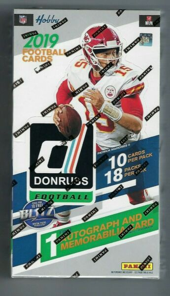 2019 Donruss NFL Football Factory Sealed Hobby Box