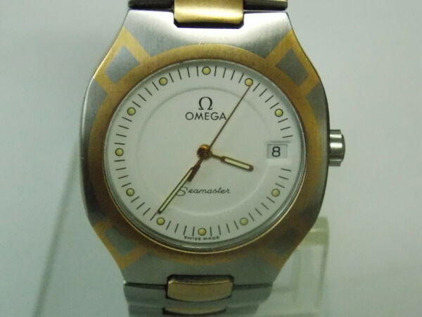 Vintage Omega Seamaster Polaris Stainless Steel with Two Tone Look Unisex Watch