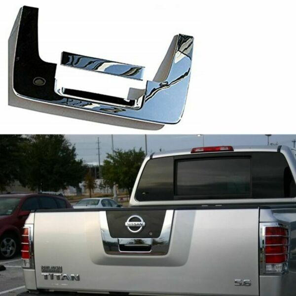 For 04-12 Nissan Titan Chrome Tailgate Rear Panel Door Handle Lower Cover