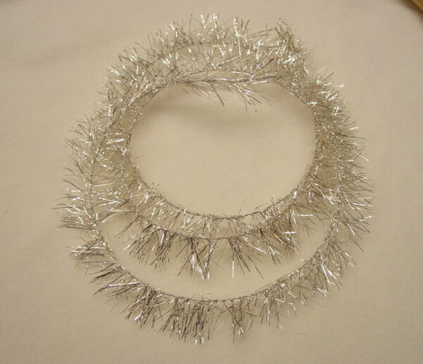 AUTHENTIC LAMETTA TINSEL FRINGE FROM GERMANY SILVER 34