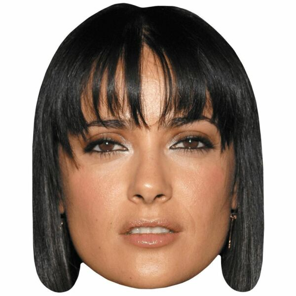 Salma Hayek (Young) Celebrity Mask Card Face and Fancy Dress Mask
