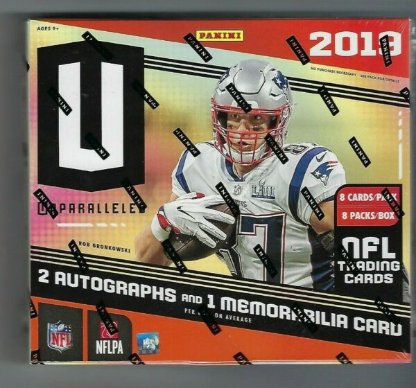 2019 Panini Unparalleled Football Sealed Hobby Box 3 Hits