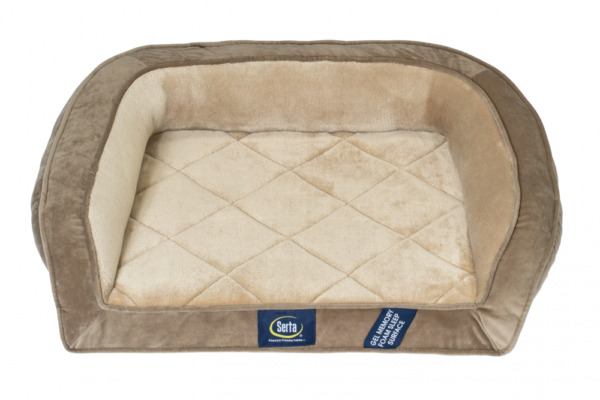 Dog Bed Serta Pedic Petite Gel Memory Foam Orthopedic Quilted Couch Brown Finish $49.27