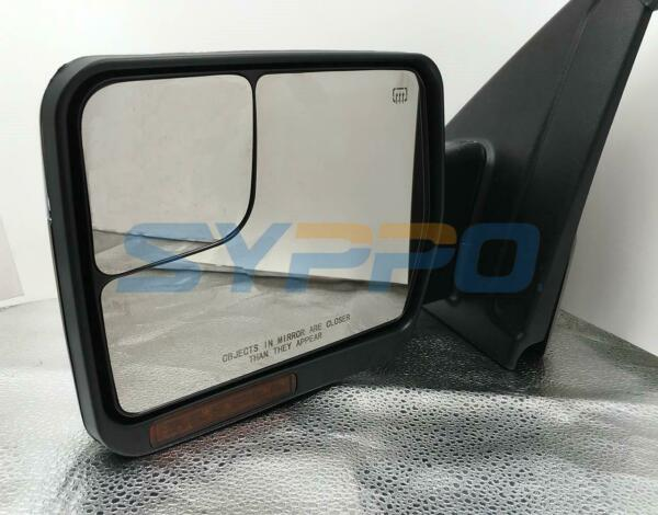Left Driver Side For 07-14 F150 Pickup Power+Heated Signal Mirror Chrome Cap