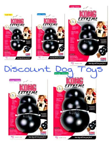 KONG Extreme Black Rubber Treat Chew Dog Toy Free and Fast Shipping made in usa