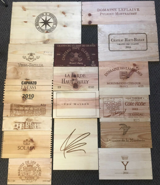 75 Wooden Wine Box End Panels from Wine Crates for Decoration Rare Wines