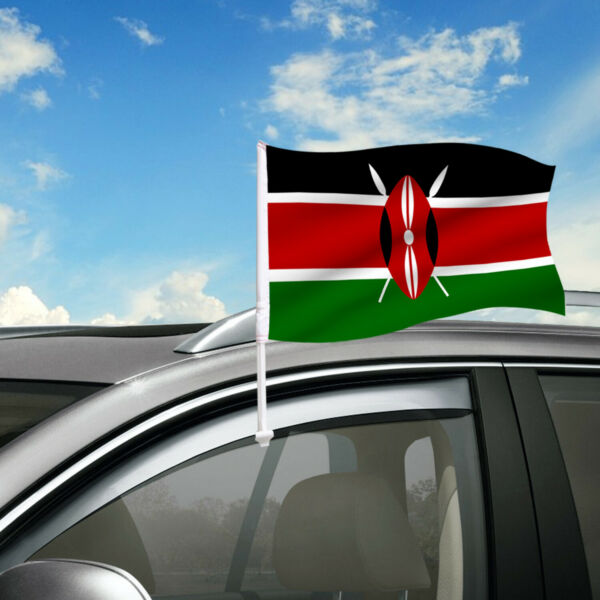 Kenya Car Flag 18